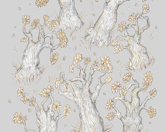 Oak Trees Fall - Print