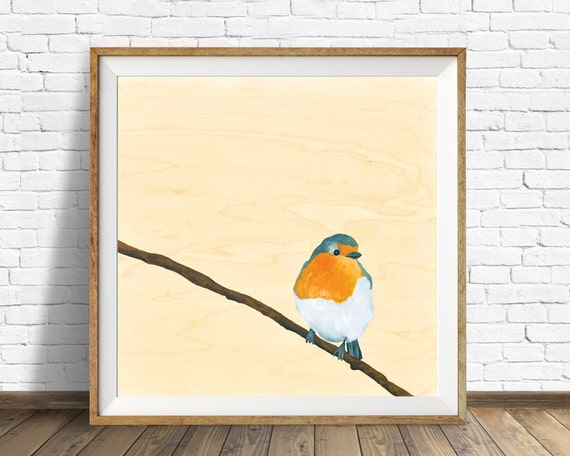 robin, robin art, nursery decor, nursery wall art, nature prints, bird prints, woodland nursery, art for kids, kids room art, kids wall art