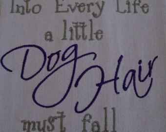 DOG Embroidered Towel - Tea Towel - Kitchen Towel - Dish Towel - Home Decor - Ready to Ship