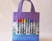 Coloring Bag Crayon Bag Crayon Tote Art Tote Activity READY To SHIP ARTOTE Mini in Andalusia