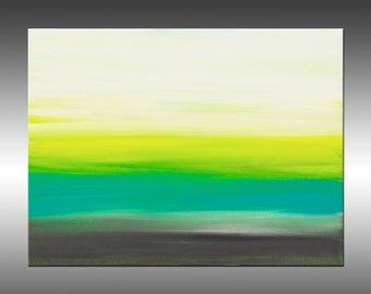 Sunrise 41 - 9x12 Inches, Original Art Abstract Painting, Canvas Wall Art Contemporary Canvas Art, Portland, Oregon