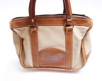 Vintage Hand Made Leather Bag// Original No 25 Churka Bag//Marley Hodgson//  Honey TanLeather  Bag