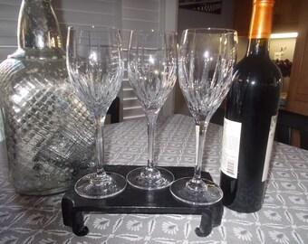 Mikasa Crystal Wine Glasses Tall Stemware Arctic Lights wine glasses