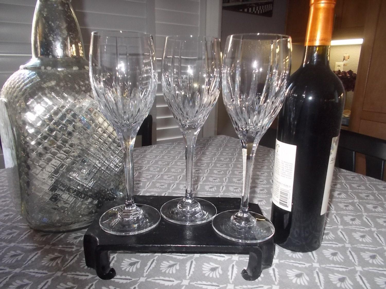 Mikasa Crystal Wine Glasses Tall Stemware By Lsshabbytreasures