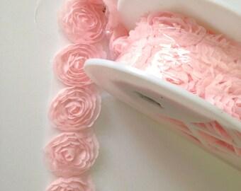 Pink Trim Rosette Trim Wedding Trim Full Bolt 10 yards *