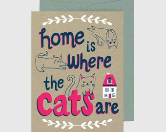 Everyday Card - Home is Where the Cats Are