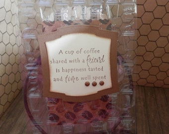 Clear Greeting Card Handmade Coffee Gift Card Holder