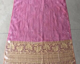 Shimmering Indian silk scarf