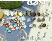 20% OFF SALE - 20PCS Earring Kits - To Make 10 Pairs Different Earring With The Glass Cabochons Kt001A