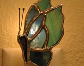 Stained Glass Butterfly Night Light Suncatcher