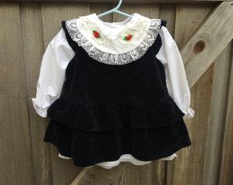 Black Velvet Dress 18-24 Months
