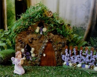 Fairy House, Fairy Garden,FREE SHIPPING,Miniatures Fairy Gardens. Fairy Cottage, Outdoor Fairy House,Fairy Dollhouse,Miniature House