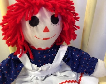 """Raggedy Ann Doll Handmade 15"""" Priority Shipping Custom Orders available"""