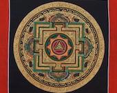 Mandala, Thangka Painting, Nepalese art, Non-Profit, Buddhist Painting, Hand Painted Mandala,  Art, Tibetan Painting