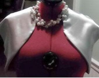 Silver Mother of the Bride Bolero Plus Size,Satin Bridal Shrug,Short Sleeve Wedding Jacket,Silver Bridesmaids Jacket