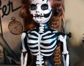Leila the Beebopin Dead Girl the Gothic Horror repurposed altered Art Doll