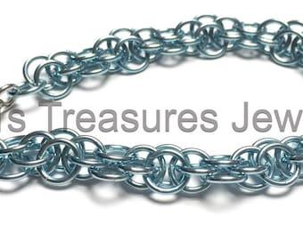 Blue Moon - Harvest Moon Chainmaille Bracelet