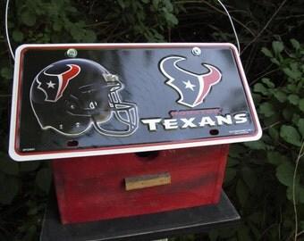 Houston Texans Football License Plate Birdhouse Fully Functional NFL