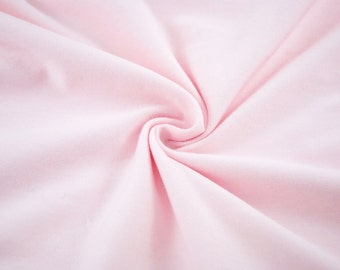 KNIT Pink Laguna Cotton Jersey from Robert Kaufman, fabric by the yard starting at a half yard
