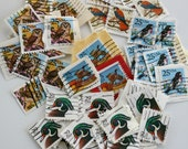Cancelled Bird Stamps. 100 Piece Pack