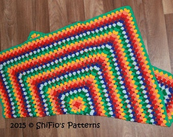 CROCHET PATTERN For Granny Square Afghan Crochet Pattern  PDF 338 Digital Download