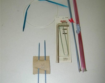 Lot Knitting Needles Double Point Stitch Marker Size 5 10 Long 11451