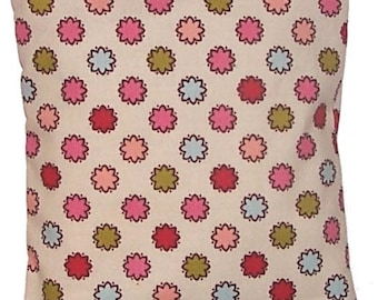 CLEARANCE - Children's Heating Pad  Boo Bag, Removable Cover,  Dots Fabric - Flaxseed Rice Mix - Unscented