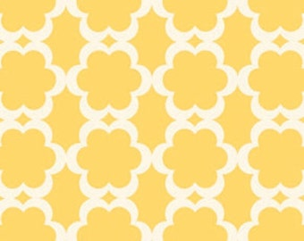 HALF YARD - Dena Designs Fabric, Kamari, Taza, Tarika Yellow White - SALE