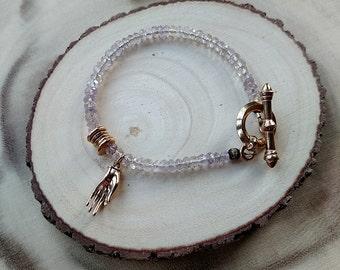 Mudra Bracelet in Amethyst