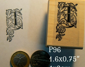 P96 Letter T rubber stamp