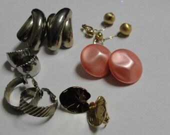 Vintage Destash Lot of Clip Earrings