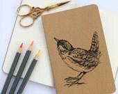 Wren Bird Notebook Moleskine Notebook