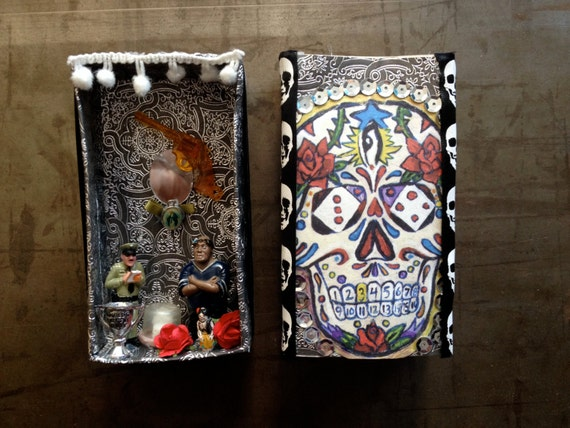day of the dead match box altar 1