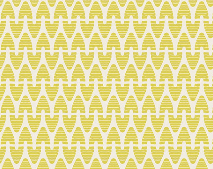 SALE fabric, Sweet as Honey fabric, Bee fabric by Bonnie Christine for Art Gallery, Yellow fabric, Beekeeper Lime (yellow), Choose the cut