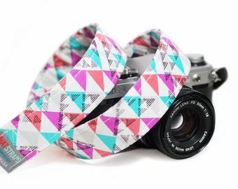 Colorful Camera Strap, Pink Camera Strap, Confetti
