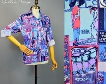 Art Deco Poster Print Vintage Novelty Shirt ~ Tropon ~ Mele ~ Impremerie Cassan Fils