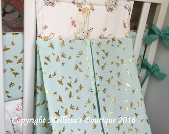 Custom Diaper Stacker  You Choose Fabrics MADE TO ORDER With or Without the Purchase of a Bedding Set
