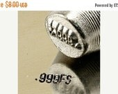 Clearance teeny tiny Design Stamp - .999FS - 2mm stamped image by ImpressArt -  includes How to Stamp Metal tutorial