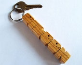 Zebrano Wood Name Keychain - Custom Made to Order
