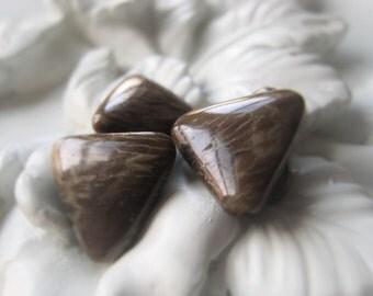 Gemstone Triangle Pair Jasper Tooth Item No. 0330