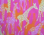 "sherbert giraffe sateen cotton fabric square 18""x18"" ~ lilly pulitzer"
