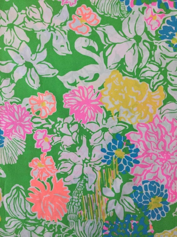 Hibiscus Stroll Poplin Cotton Fabric Square 17 Quot X17 Quot Lilly Pulitzer From Lillybelledesigns On