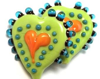 Key Lime Primitive Hearts