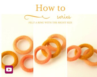 DIY - Video workshop - Wet Felting A Ring With The Right Size - Beginner & Intermediate level - 3 videos - Instant download
