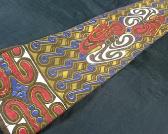Vintage Suede Leather Necktie 1960's - 1970's