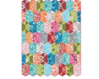 "Robert Kaufman DISCO Quilt Kit Fabric Pattern 48"" x 62"" Valori Wells KIT-680-26"