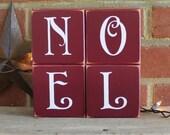 NOEL Christmas Shelf Sitter Blocks Sign Home Decor for the Holidays