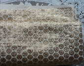 Stunning Vintage metallic Gold and White woven lame 1960's Evening Glam Fabric