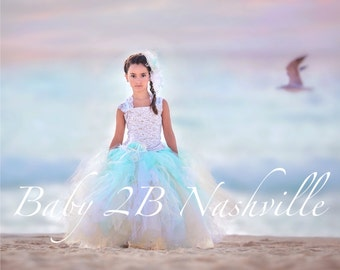 Beach Dress Wedding Dress Flower Girl Dress Tulle Dress Wedding Dress Party Dress Birthday Dress Toddler Tutu Dress Girls Dress