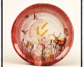 Swamp Plate in red